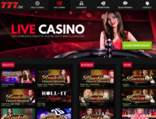 Casino777: roulette et blackjack en direct du Casino de Spa